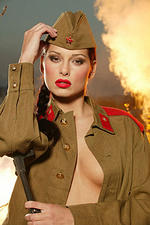 Hot Babes XXX Photos Solo Girls Brunettes Outdoors Pornstars Porn Stars Tinytits Evelyn Lory 2006-06-04 Evelyn Lory stripping out of her army uniform on the field