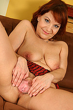 AllOver30 Matures MILFs XXX Photos Naked 2011-09-19 Redhead Mature Babe Nika spreads her pussy