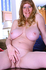 AllOver30 Matures MILFs XXX Photos Naked 2011-09-19 Busty MILF Veronica plays with pussy on living room table