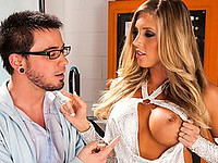Wicked Pictures Porn Studios Sex Couples Hardcore XXX Photos Pornstars Porn Stars Babes Hardcore  Samantha Saint 2012-08-08 Scientists Sam and Amy are moonlighting on a secret project to create a female robot the ideal companion. While working together, Amy develops a secret crush on Sam, who cluelessly misses hers hints. When their project starts nearing its end and he begins